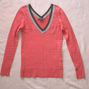 Lacoste Cashmere Blend V Neck Sweater Sz 38 EUC!